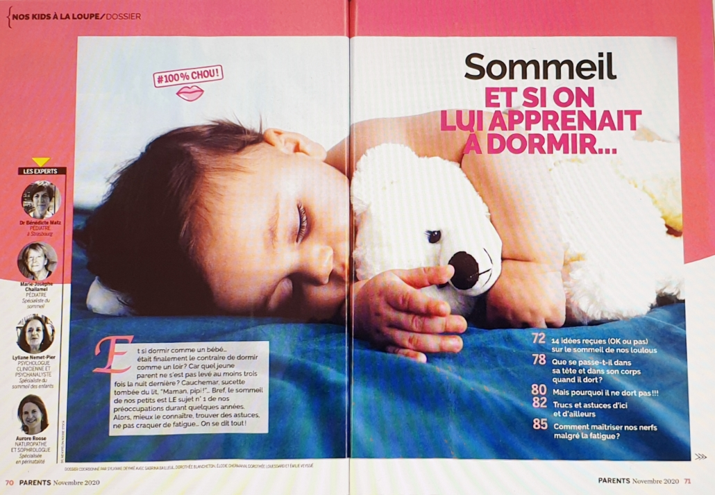 Magazine Parents sur le sommeil